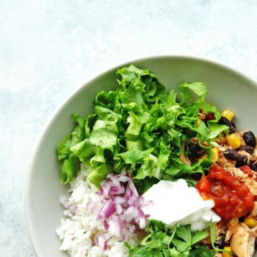 Healthy Slow Cooker Burrito Bowls