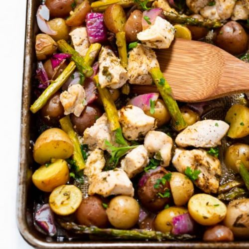Sheet Pan Lemon Chicken & Veggies