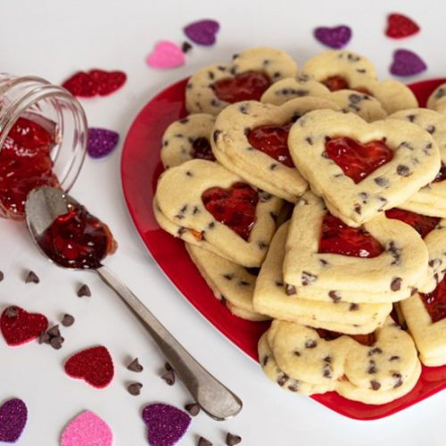 Strawberry and Chocolate Chip Heart