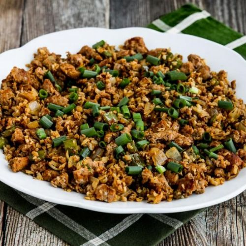 Low-Carb Cauliflower Dirty Rice
