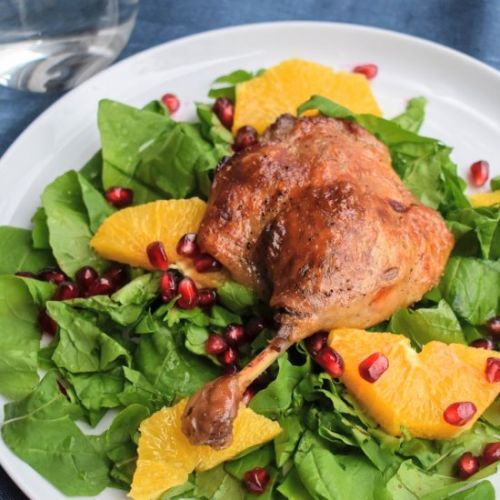 Duck Confit with Arugula and Citrus