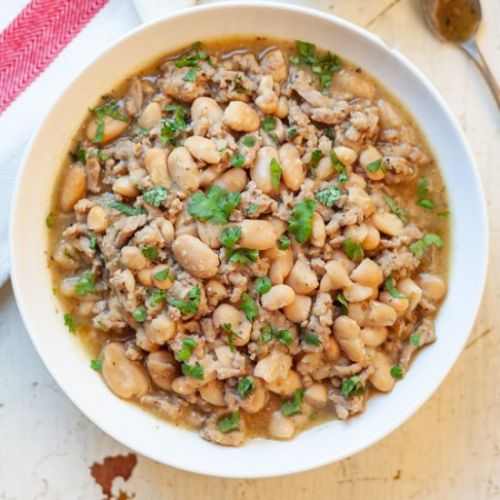 Instant Pot White Bean Turkey Chili