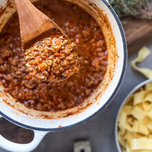 Ground Beef Meat Sauce with Stout