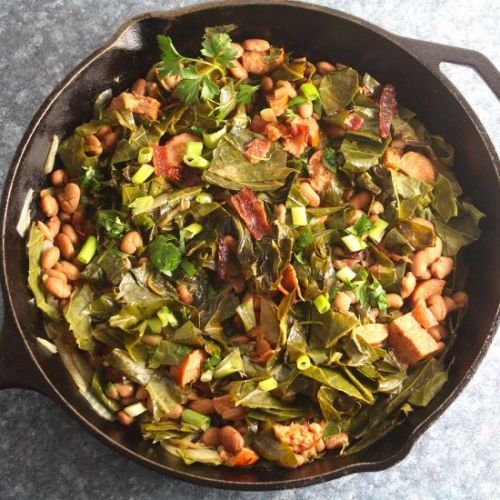 Brazilian Beans, Greens and Bacon