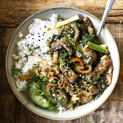 Spicy Beef and Spinach Stir-Fry