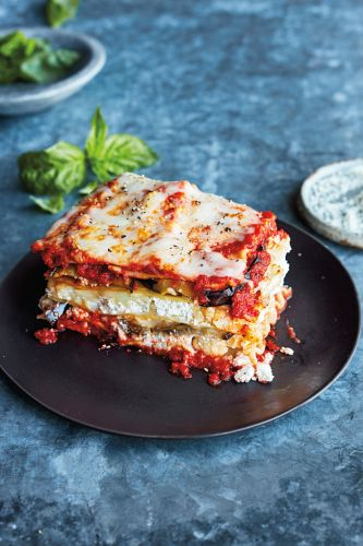 Slow-Cooker Eggplant and Cauliflower Lasagna