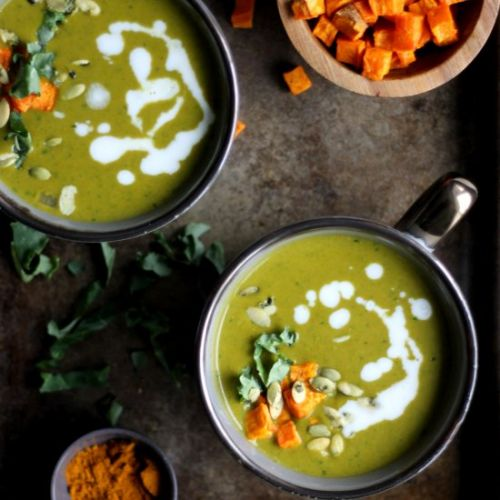 Sweet Potato and Greens Soup