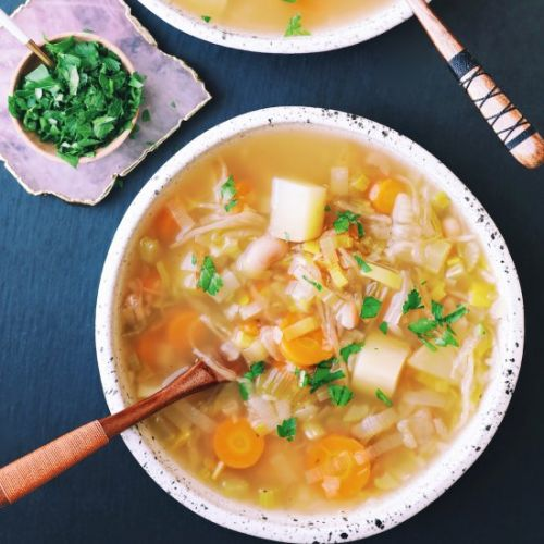 Potato White Bean & Sauerkraut Soup
