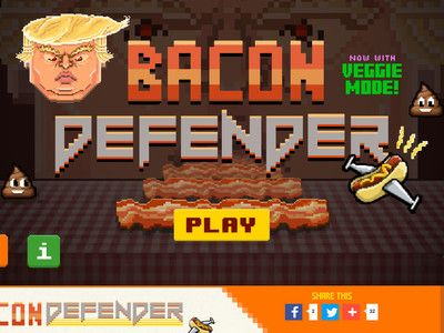 'Bacon Defender' Game Mocks Trump's Proposed Pork Policy