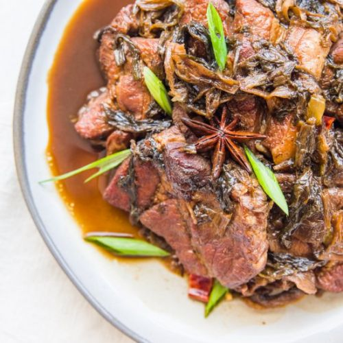 MEIGAN BRAISED PORK | 梅乾菜燒肉