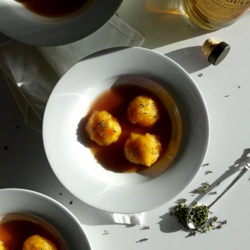 Whisky Marmalade and Thyme Dumpling