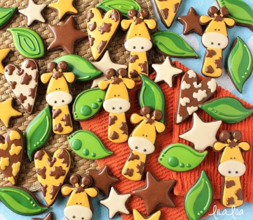 How to Make Decorated Giraffe Sugar Cookies