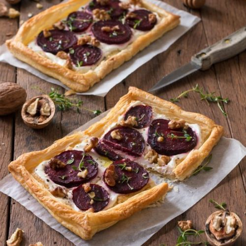 Beetroot And Goat's Cheese Tarts