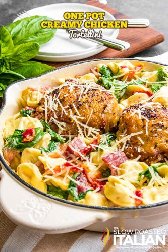 One-Pot Creamy Chicken Tortellini