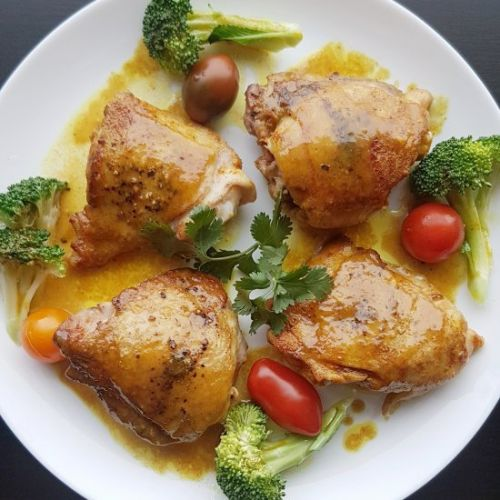 Maple Mustard Curry Chicken