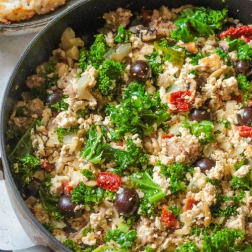 Greek Fusion Tofu Scramble