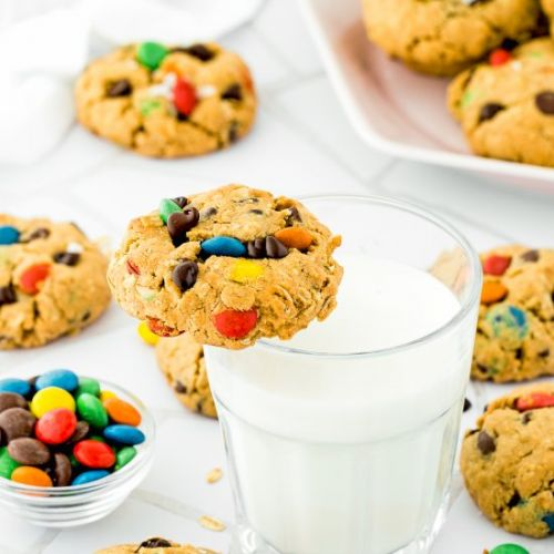 Eggless Monster Cookies