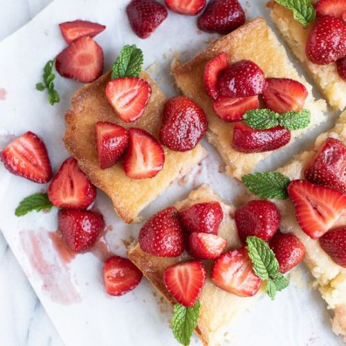 Strawberry Chewy Butter Bars