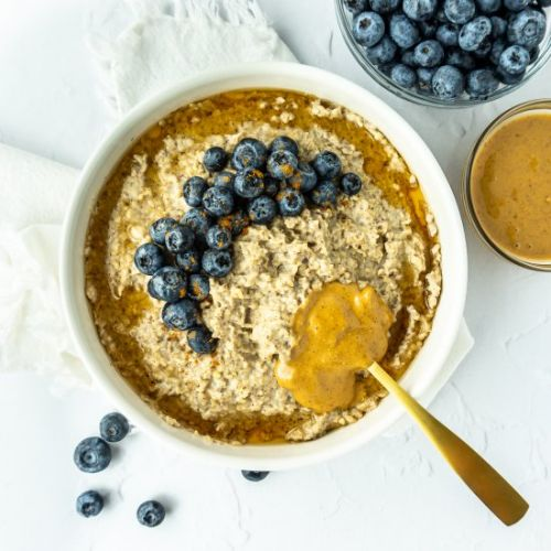 Extra Fluffy Blueberry PB Oatmeal