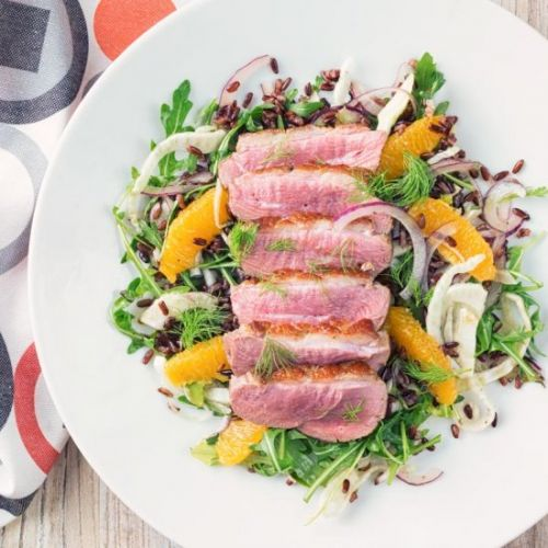 Fennel and Orange Salad with Duck