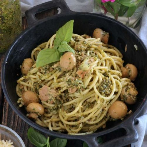 Pesto Pasta With Tuna