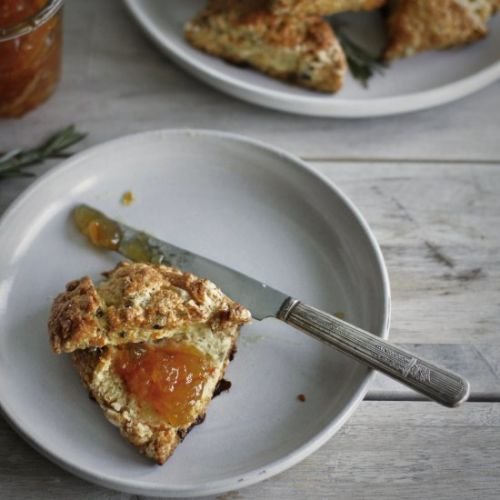 Carrot Rosemary Currant Scones