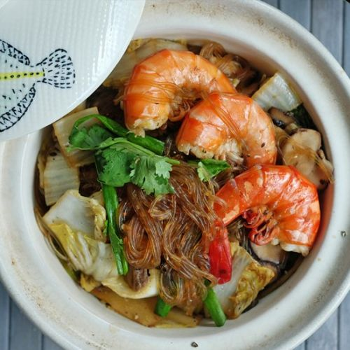 Thai Style Prawn with Glass Noodle
