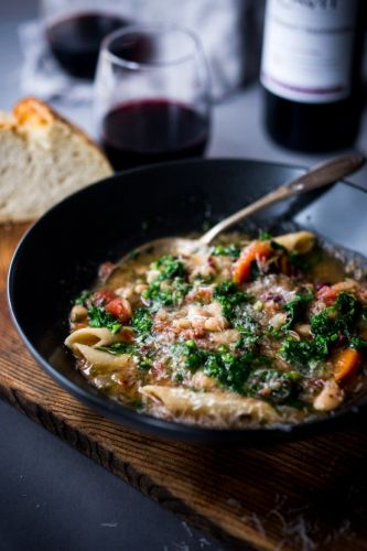 Instant Pot Minestrone and Cavit Wine