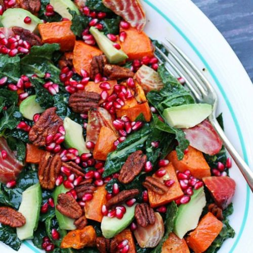 Raw and Roasted Green Salad