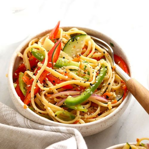 Rainbow Asian Noodle Salad