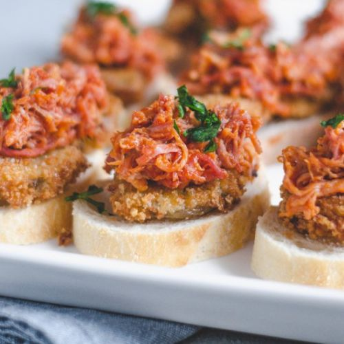 Fried Green Tomato and Bourbon BBQ