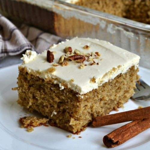 Spice Cake w/ Cream Cheese Frosting