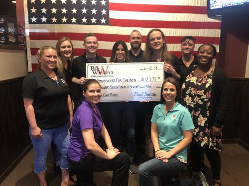Big Whiskey's Raises Record Amount for Ambassadors for Children