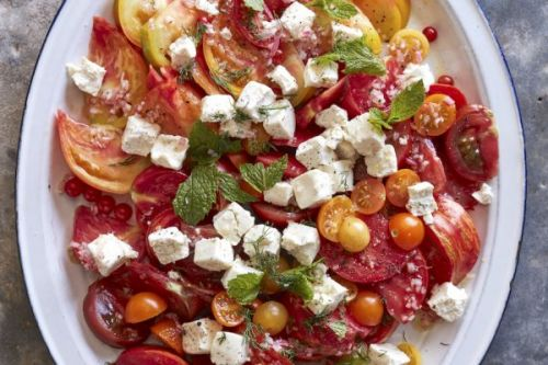 Heirloom Tomato Goat Cheese Salad