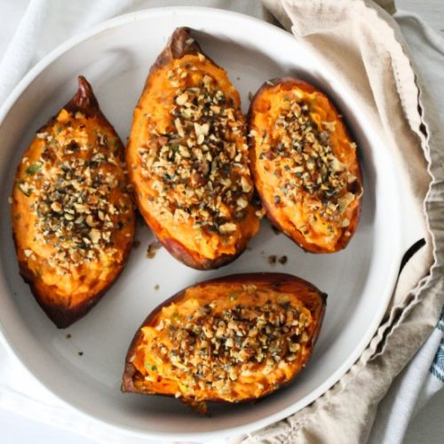 Paleo Twice-Baked Sweet Potatoes