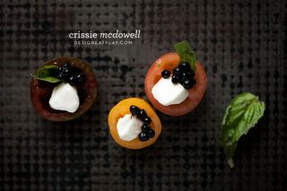 Caprese Bites with Balsamic Caviar
