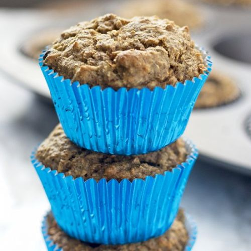 Vegan Blueberry Banana Bran Muffins
