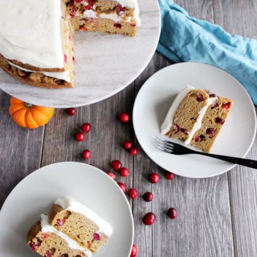 Cranberry Pumpkin Cake