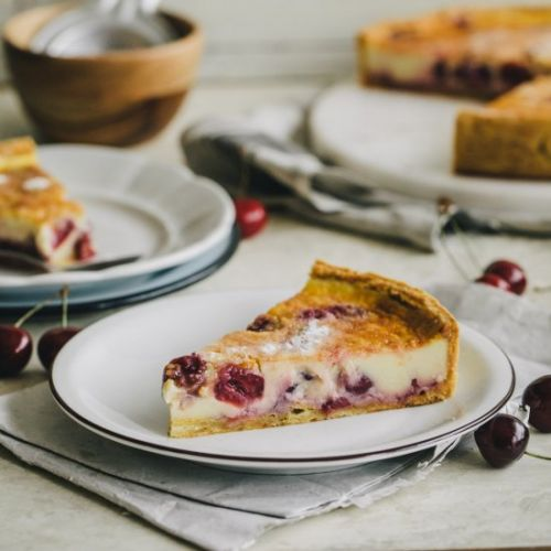 Cherry Custard Tart