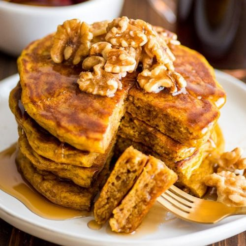 Amazing Pumpkin Pancakes for Two