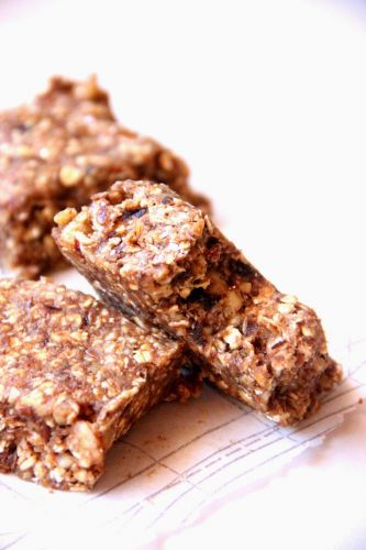 Raw banana nut bars