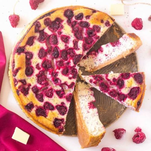 Raspberry Poppyseed Cheesecake