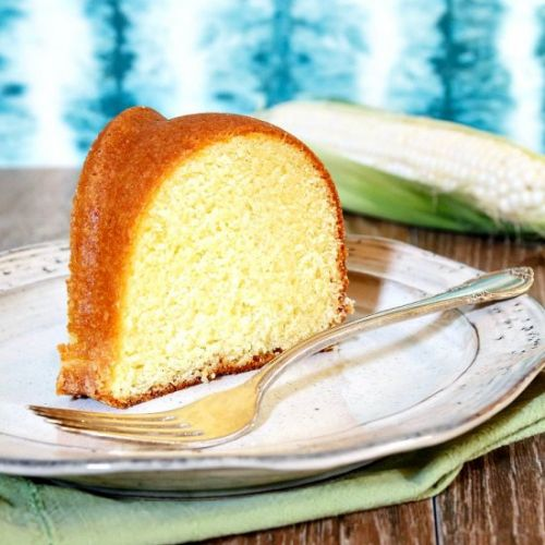 Lemon Corn Buttermilk Pound Cake