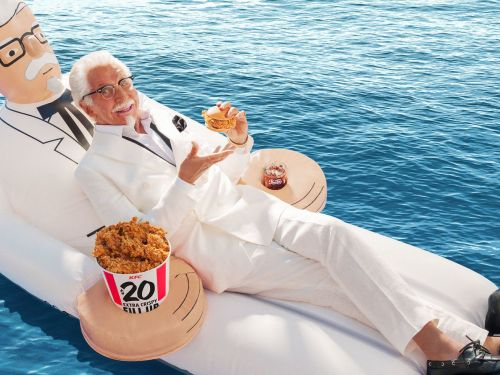 KFC's Colonel Sanders Pool Float Is Where Summer and Fried Chicken Meet