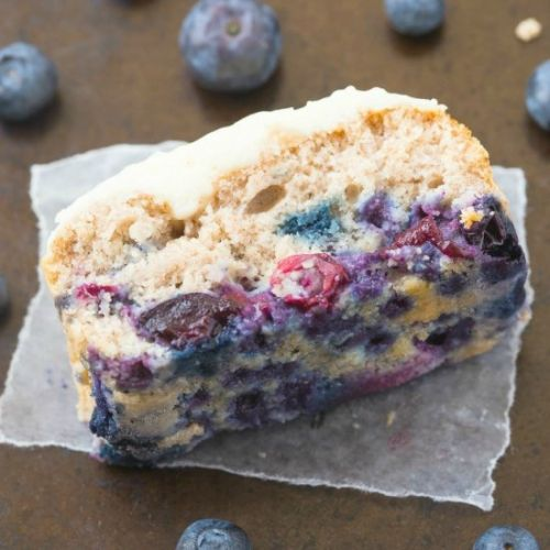 Low Carb Blueberry Breakfast Cake