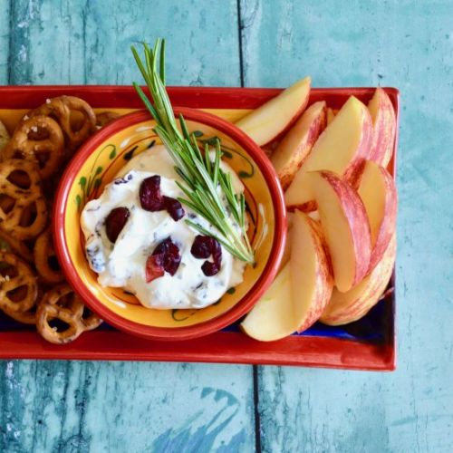 Cranberry and Rosemary Cheese Dip