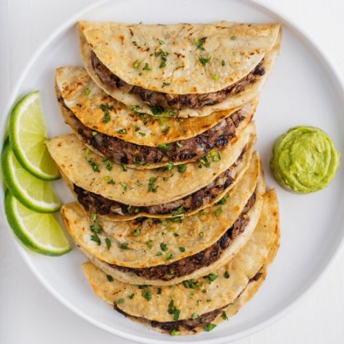 Crispy Vegan Black Bean Tacos