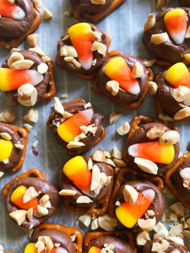 Candy Corn Rolo Turtles