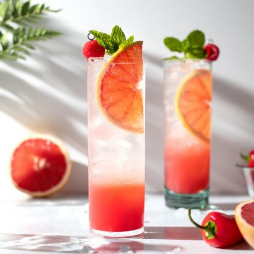Hot Honey Grapefruit Soda