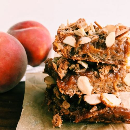 Spiced Peach Crumble Bars